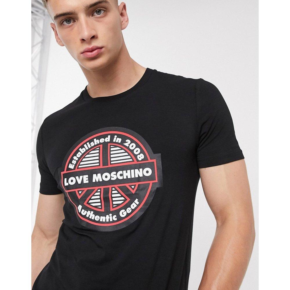 T-shirt avec logo estampé - Love Moschino - Modalova