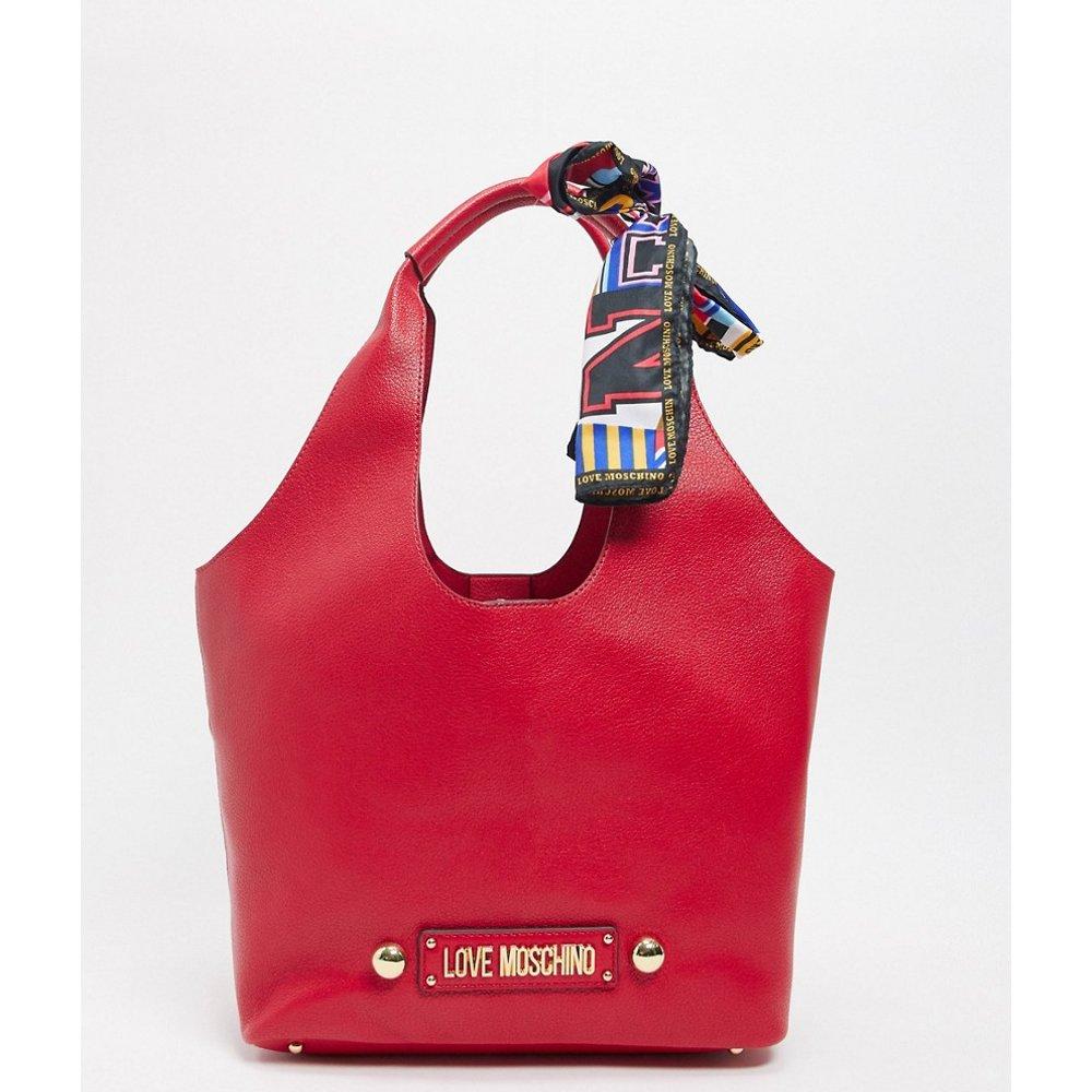 Tote bag avec foulard à nouer - Love Moschino - Modalova