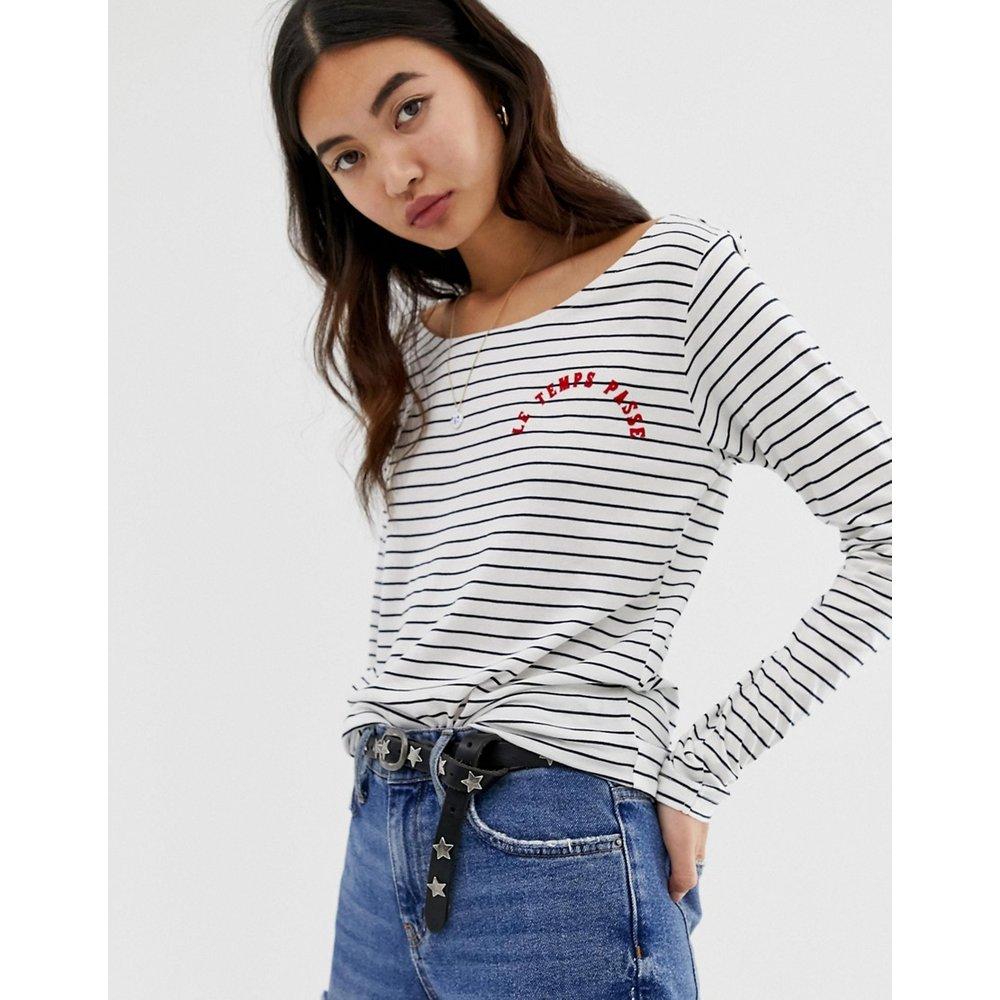 T-shirt à manches longues et rayures - Maison Scotch - Modalova