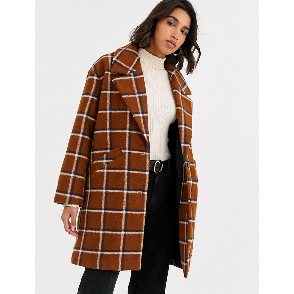 Manteau mi-long à carreaux - Mango - Modalova