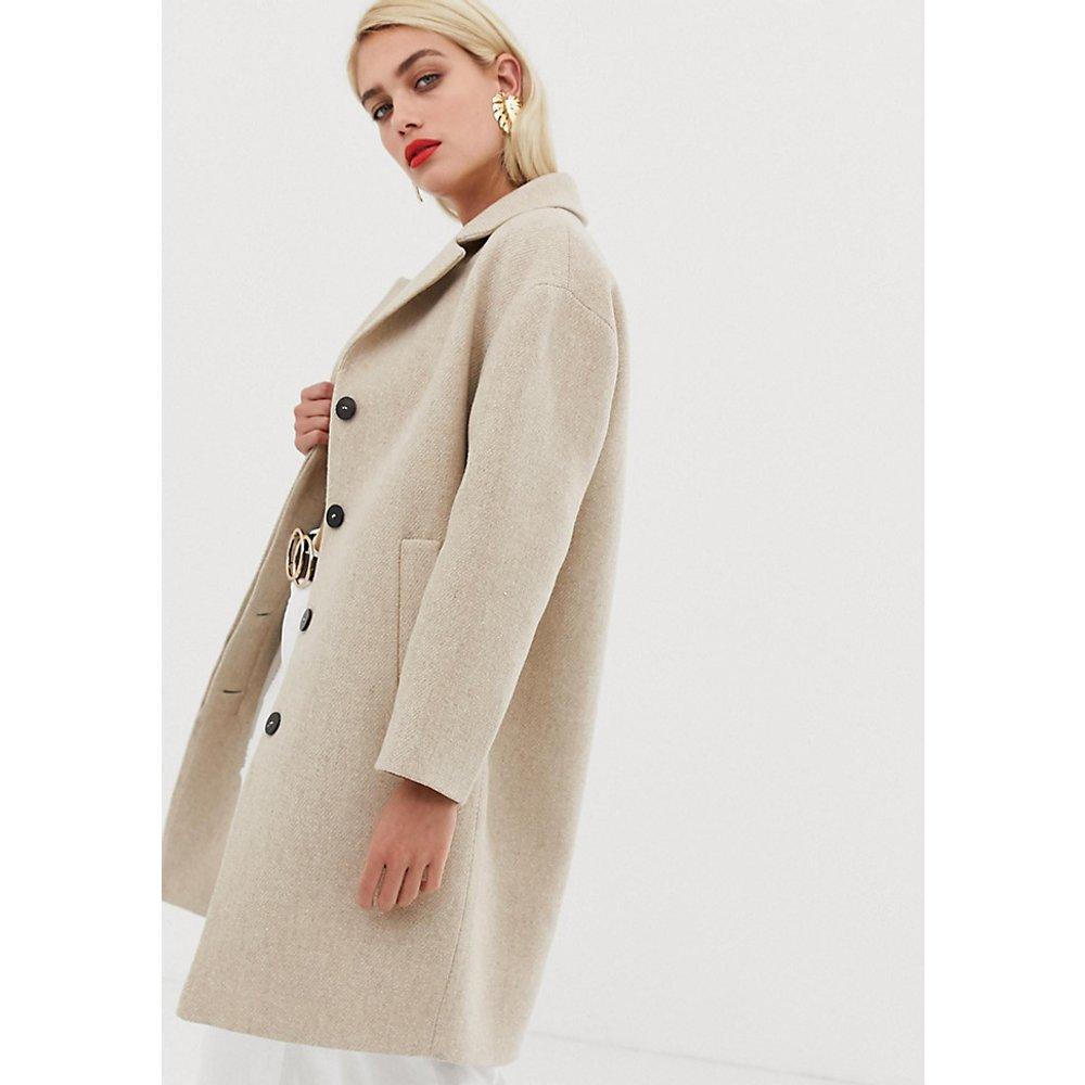 Manteau mi-long boutonné - Mango - Modalova