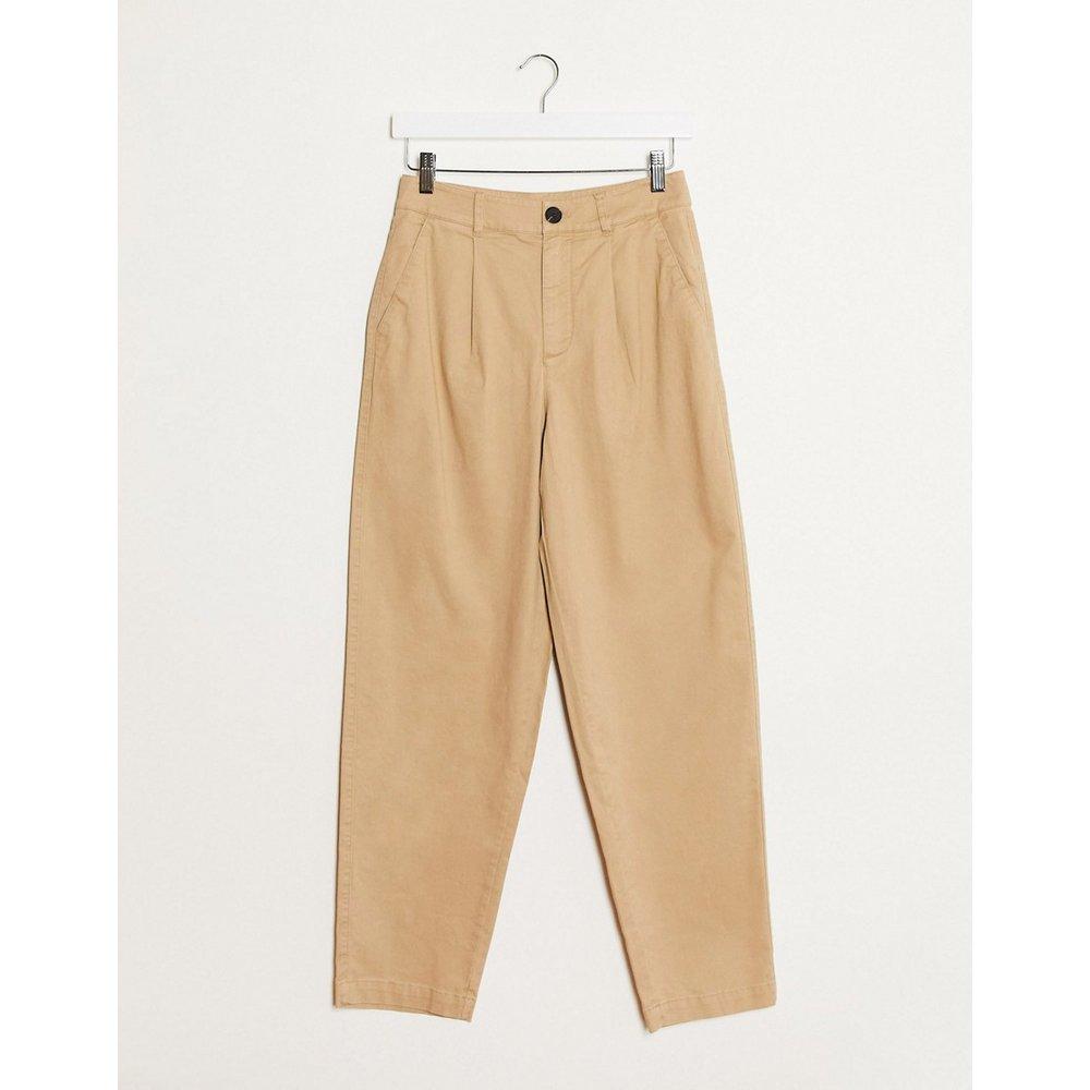 Pantalon boutonné - Camel - Mango - Modalova