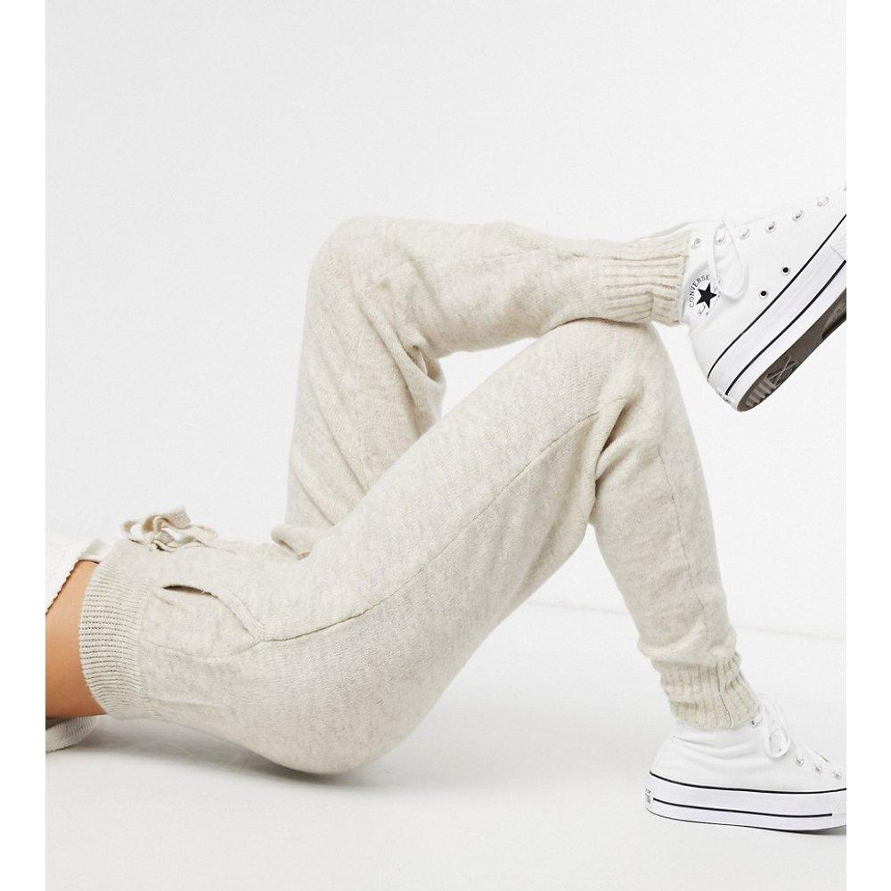 Pantalon d'ensemble en maille - Avoine - Mango - Modalova