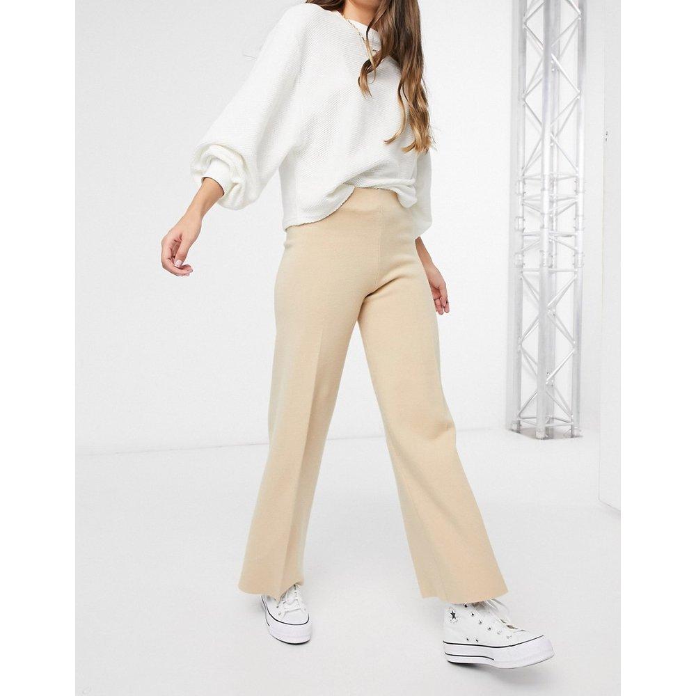 Pantalon en maille (ensemble) - Beige - Mango - Modalova