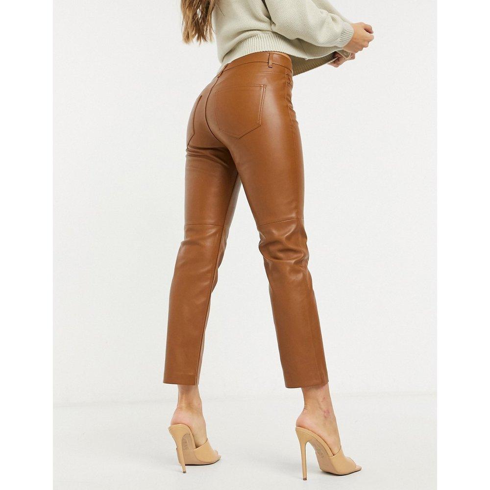Pantalon en similicuir - Mango - Modalova