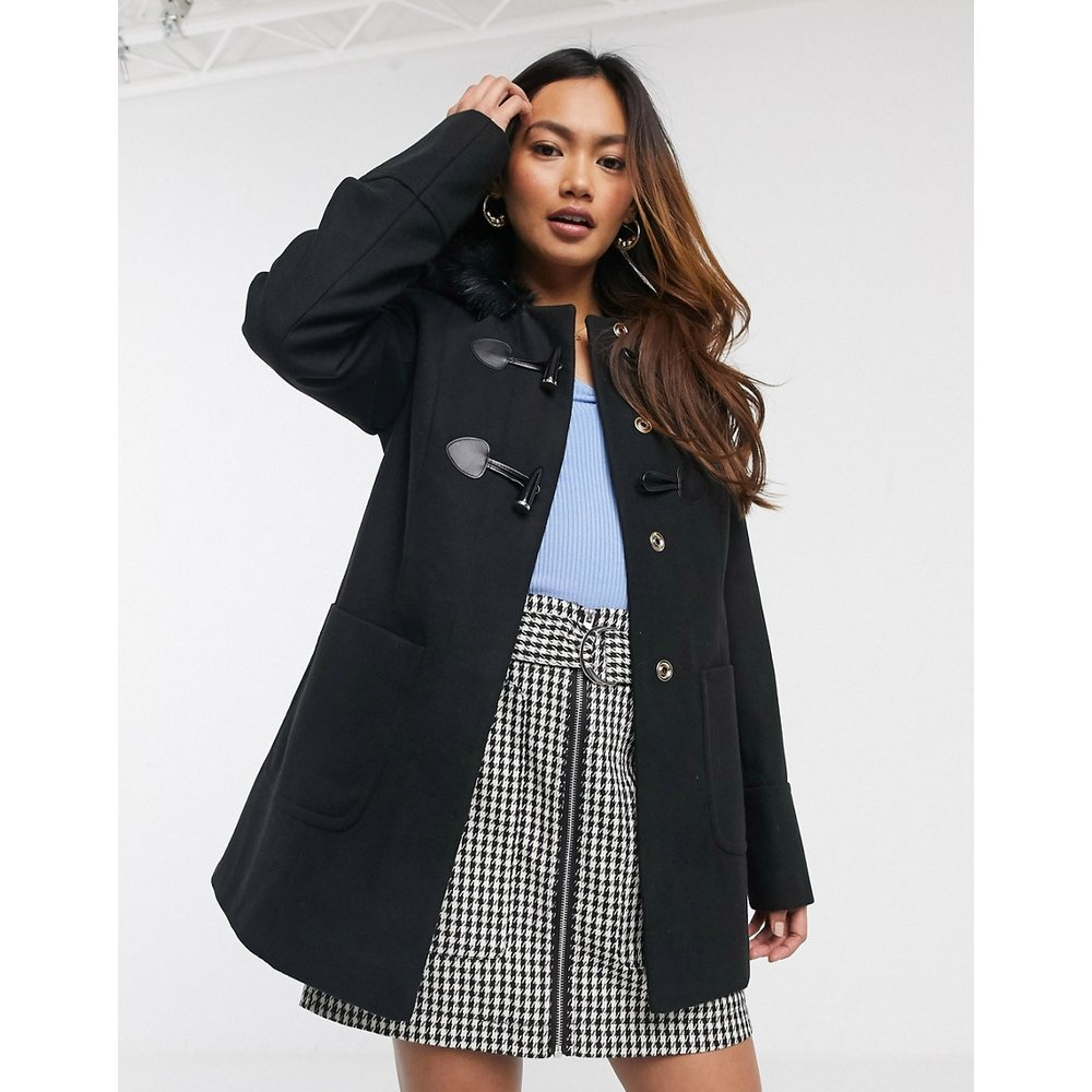 Duffle-coat - Noir - Miss Selfridge - Modalova