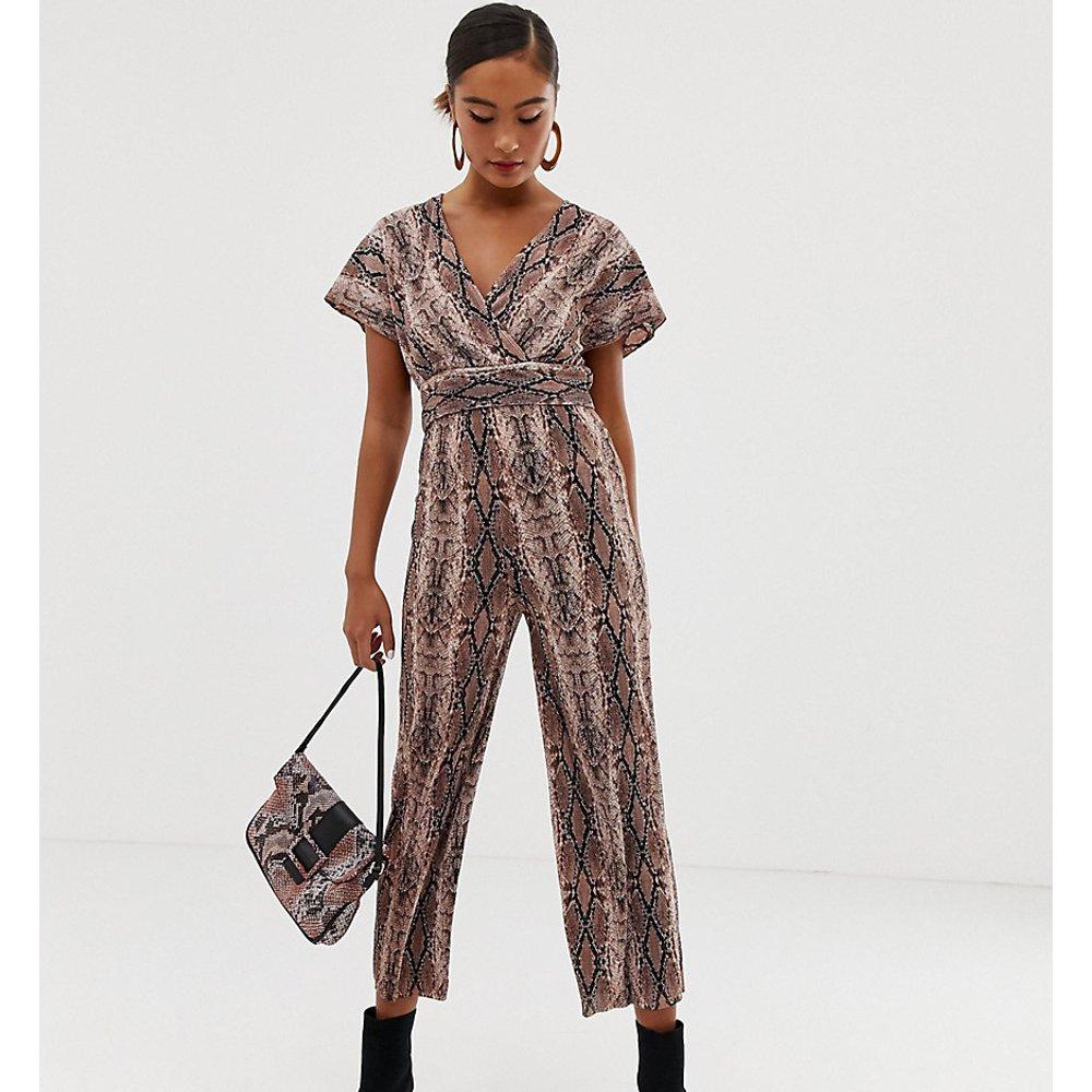 Pantalon court plissé à motif serpent - Miss Selfridge - Modalova