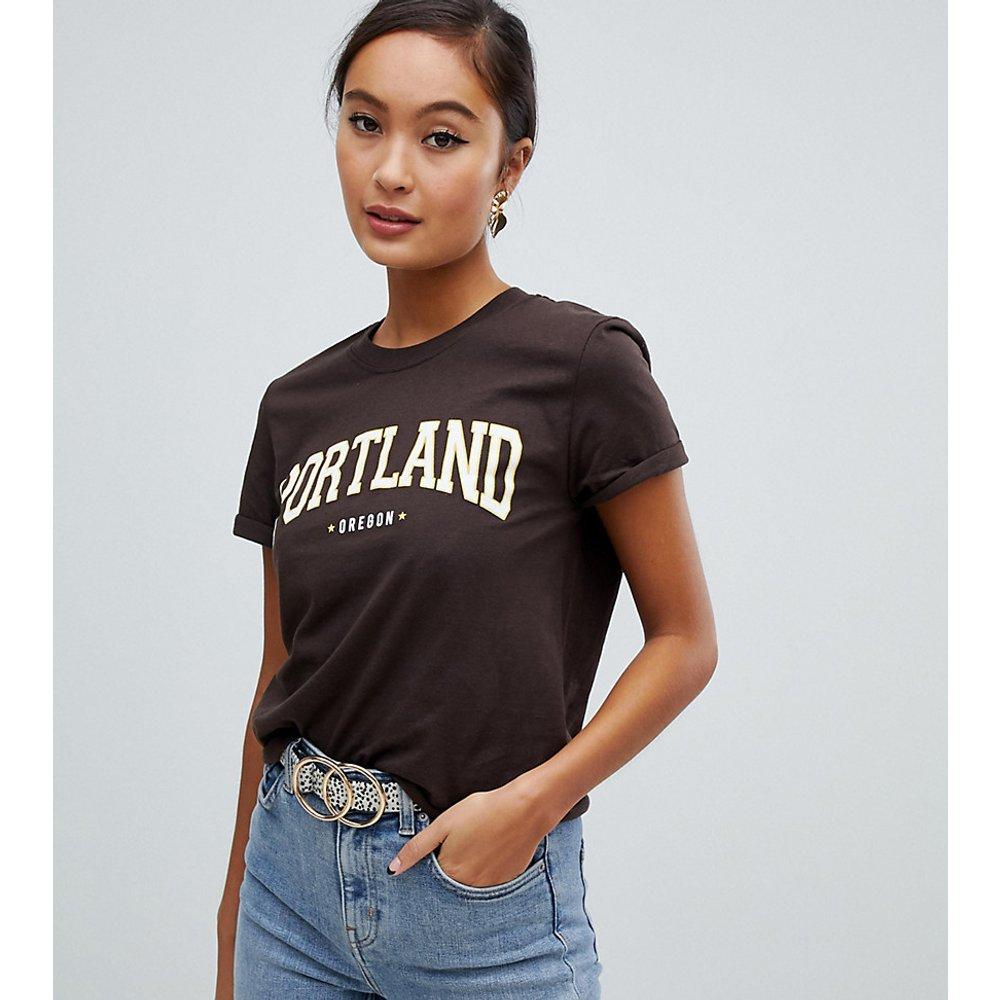 Portland - T-shirt à slogan - Miss Selfridge - Modalova