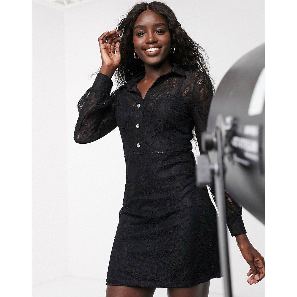 Robe chemise en dentelle - Miss Selfridge - Modalova