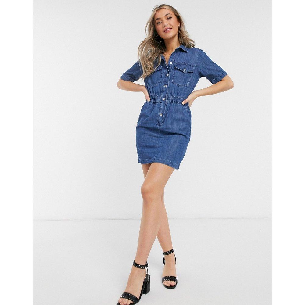 Robe chemise en jean délavage moyen - Miss Selfridge - Modalova