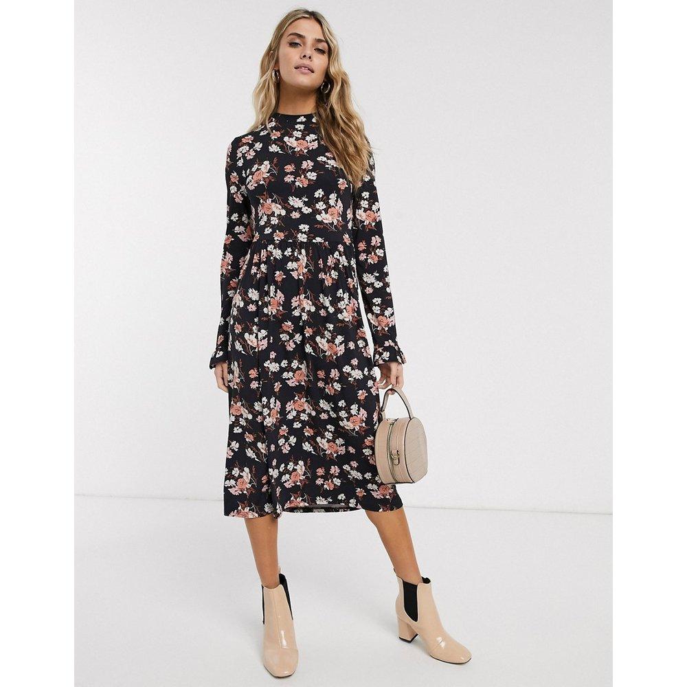 Robe fluide mi-longue à fleurs - Miss Selfridge - Modalova
