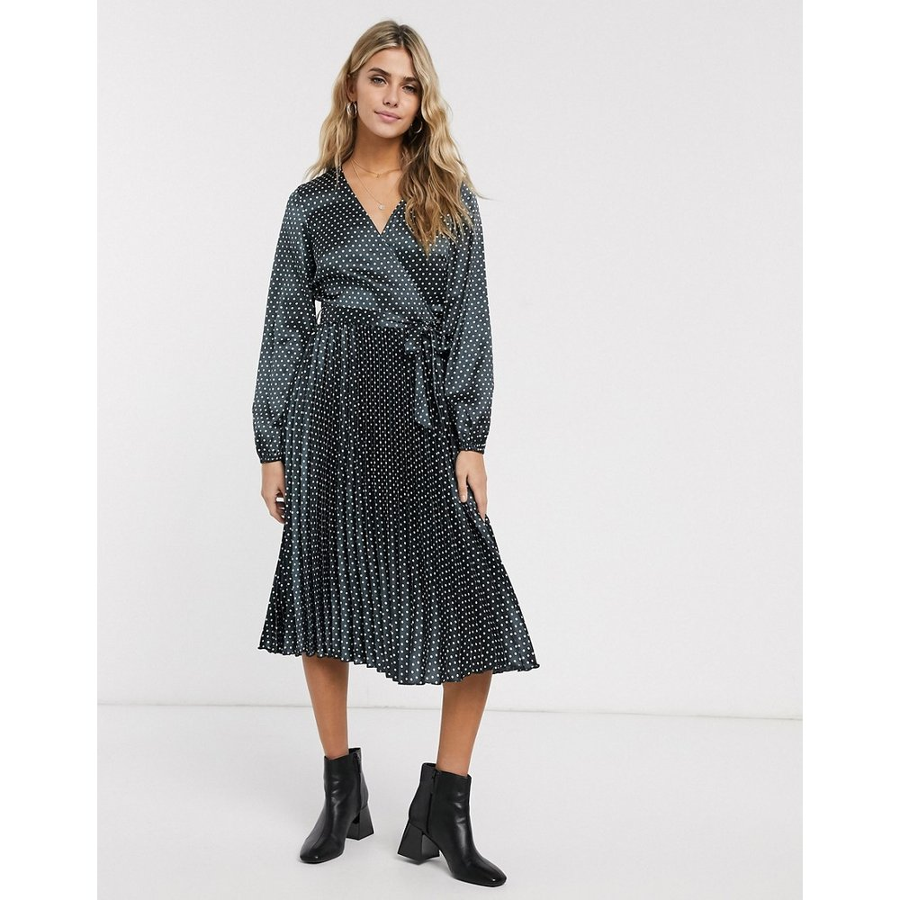 Robe mi-longue plissée - Miss Selfridge - Modalova