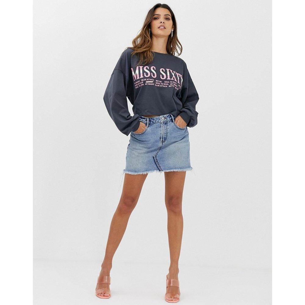 Archive - Mini-jupe en jean à bord brut - Miss Sixty - Modalova