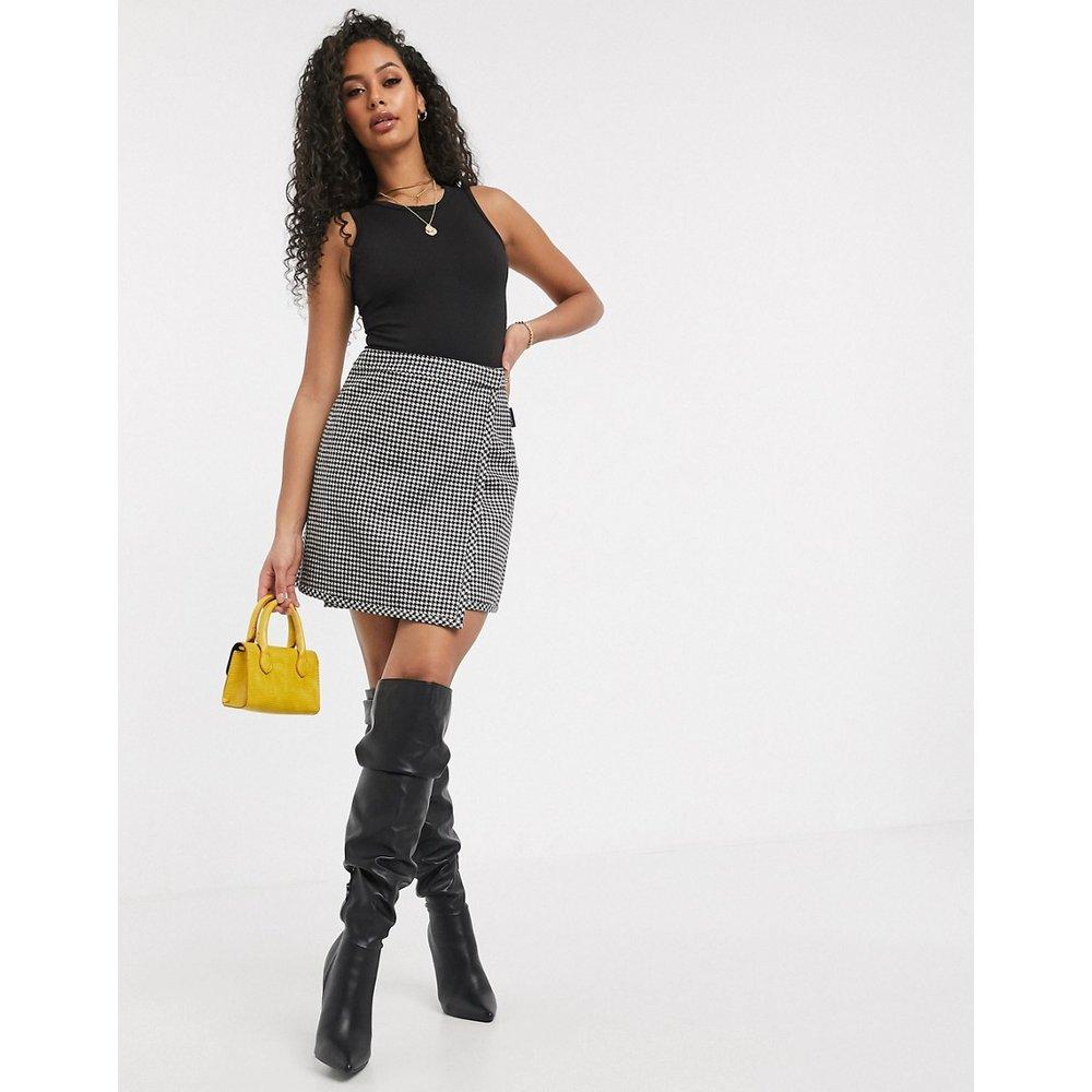Mini-jupe motif pied-de-poule avec bande à logo - Miss Sixty - Modalova