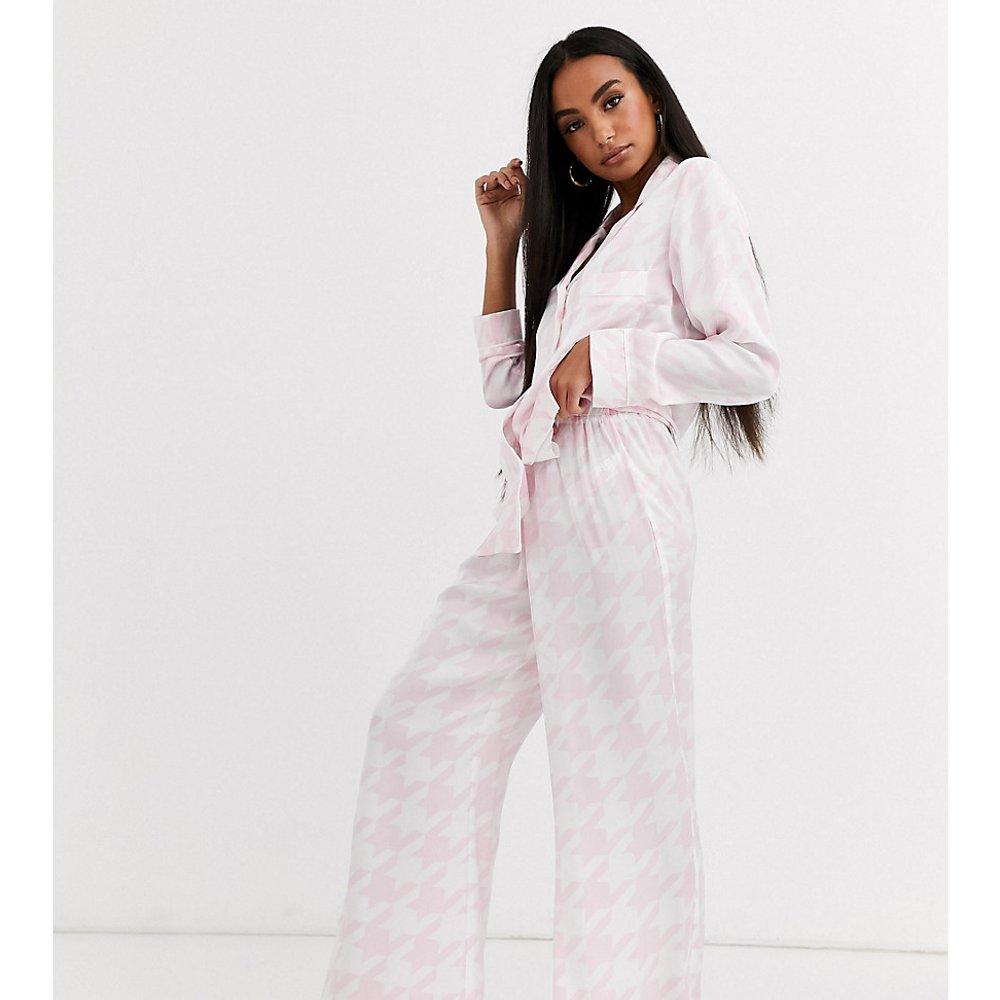 Pantalon de pyjama motif pied-de-poule - Missguided Petite - Modalova