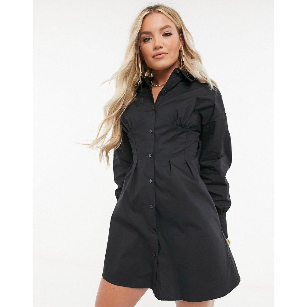 Robe chemise à détail corset - Missguided - Modalova