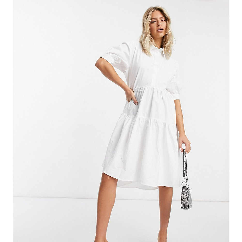 Robe chemise babydoll ultra oversize à manches courtes - Missguided - Modalova