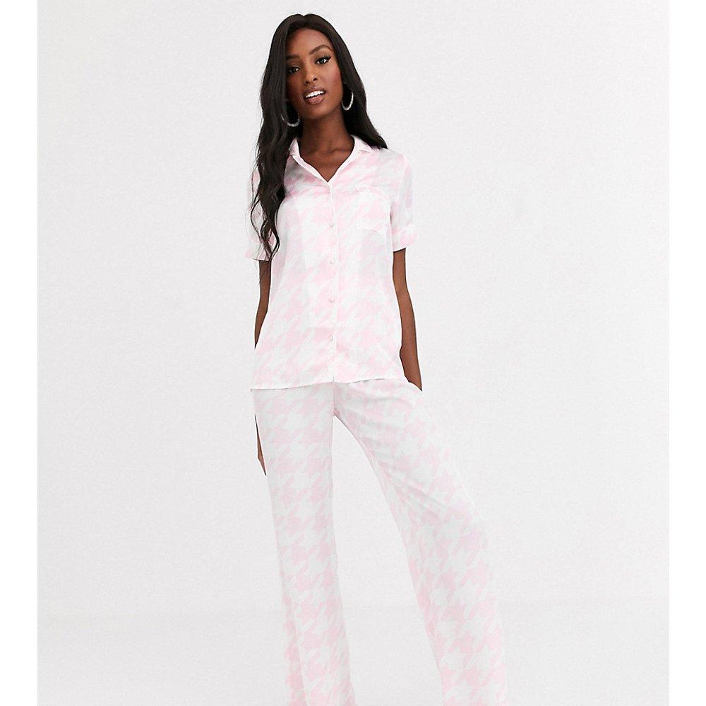 Pantalon de pyjama motif pied-de-poule - Missguided Tall - Modalova