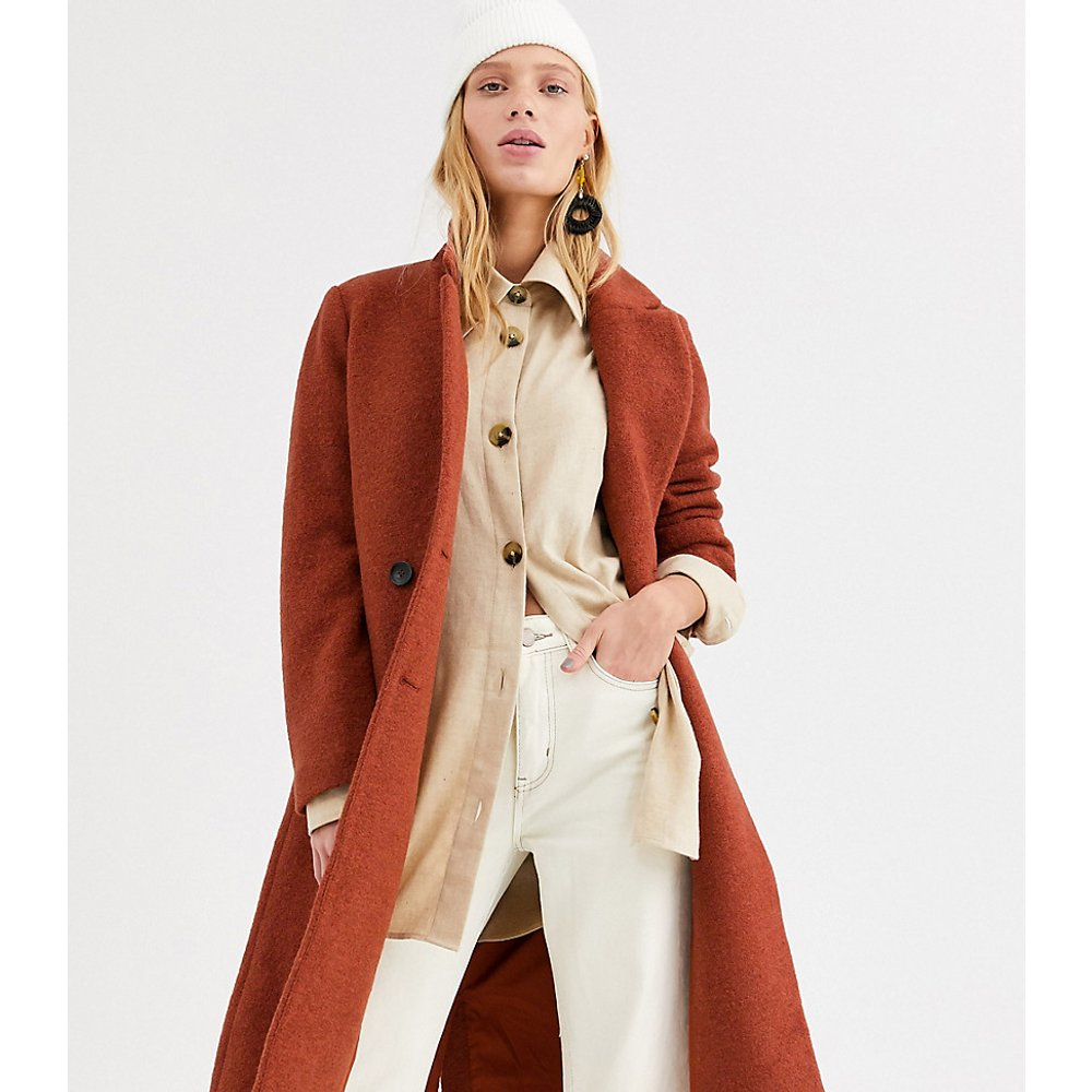 Manteau mi-long ajusté - Rouille - Monki - Modalova