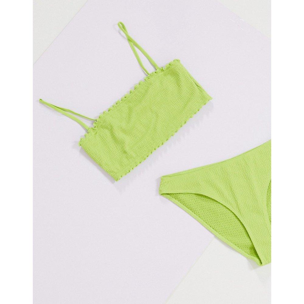 - Pauline - Haut de bikini froncé en polyester recyclé - Monki - Modalova