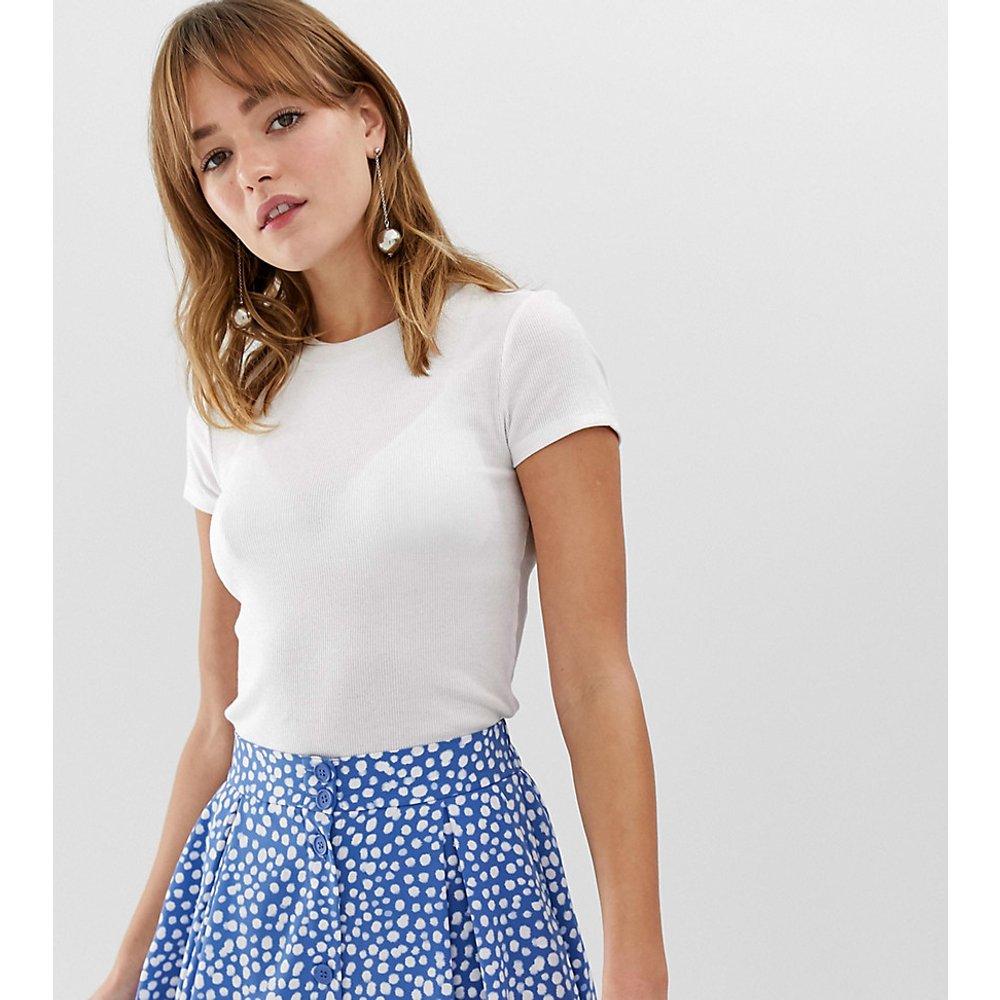 T-shirt ras de cou côtelé - Monki - Modalova