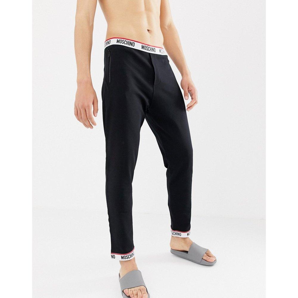 Pantalon confortable en coton effet polaire - Moschino - Modalova