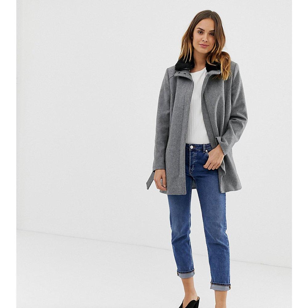 Manteau élégant à ceinture - Naf Naf - Modalova