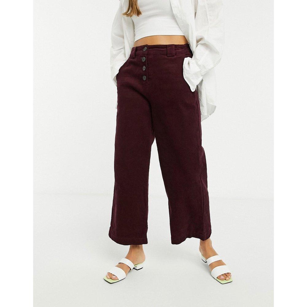 Pantalon en velours côtelé - Lie-de-vin - Native Youth - Modalova