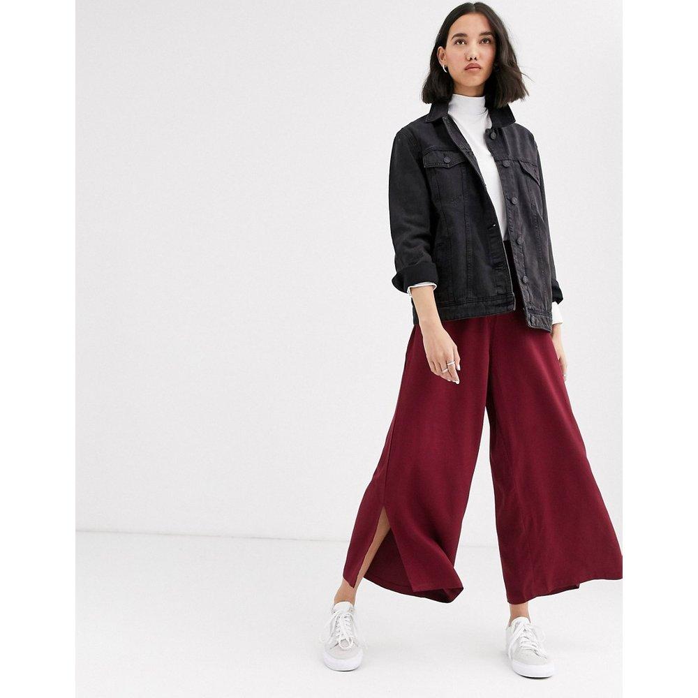 Pantalon large d'ensemble en satin avec tirette anneau - Native Youth - Modalova