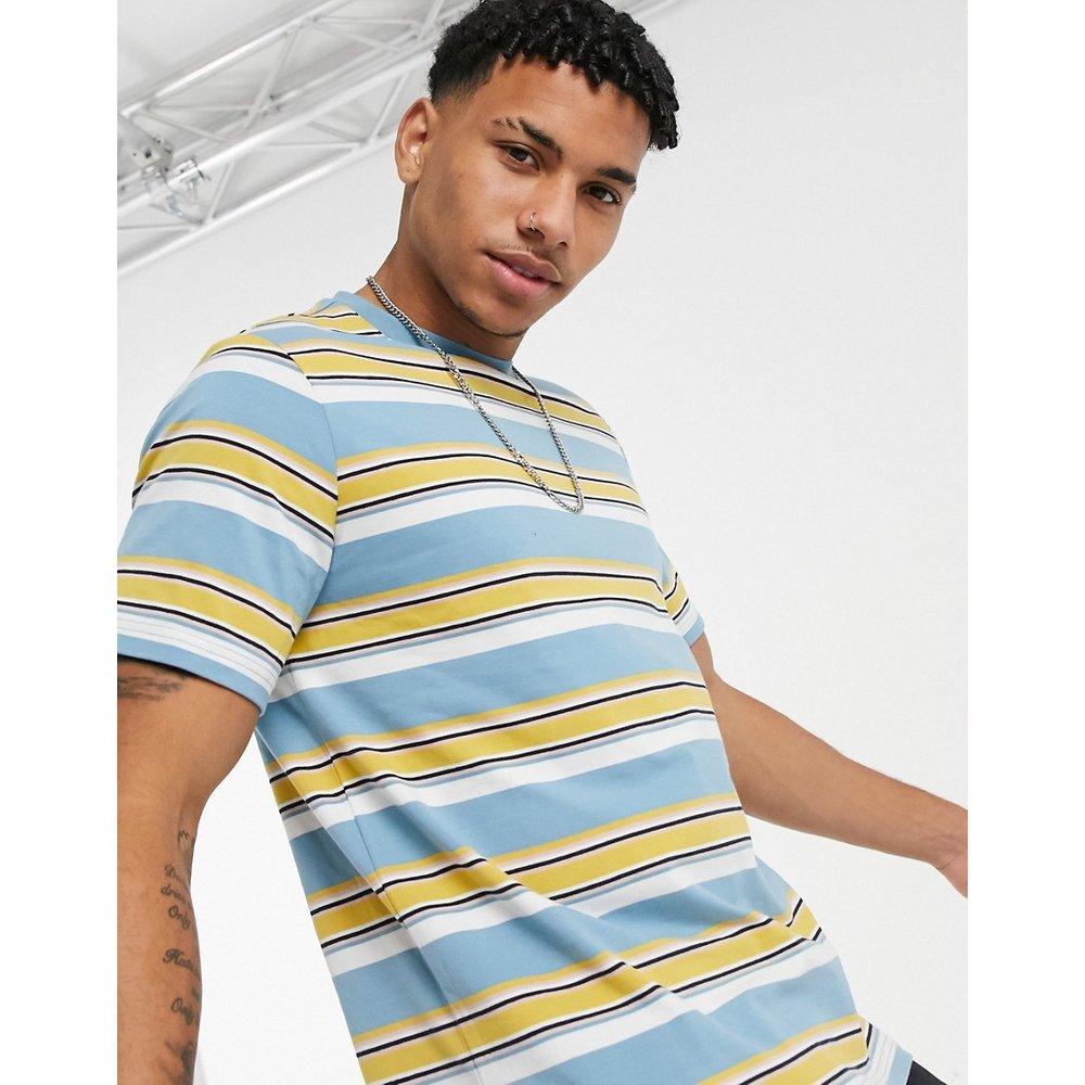 - T-shirt à rayures - Bleu et jaune - Native Youth - Modalova