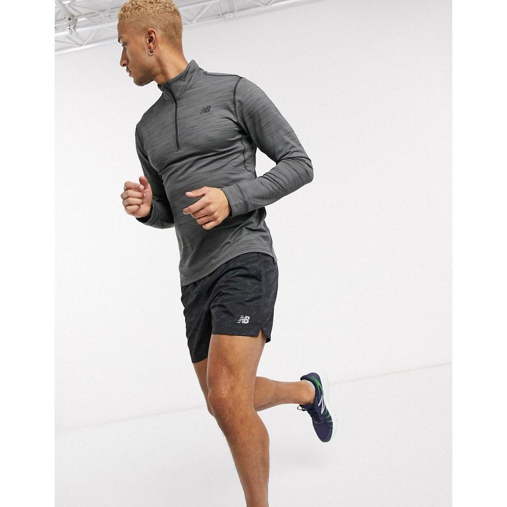 Anticipate - Sweat-shirt de course à demi-patte zippée - foncé - New Balance - Modalova