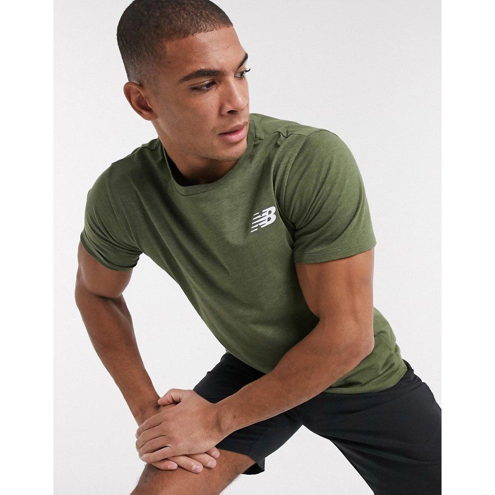 Running Heathertech - T-shirt à logo - Kaki - New Balance - Modalova