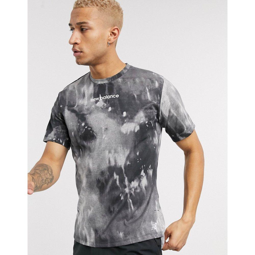 Running - T-shirt à logo effet tie-dye - New Balance - Modalova