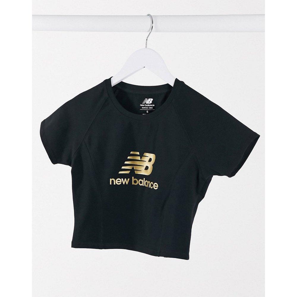 T-shirt court à logo métallisé - New Balance - Modalova