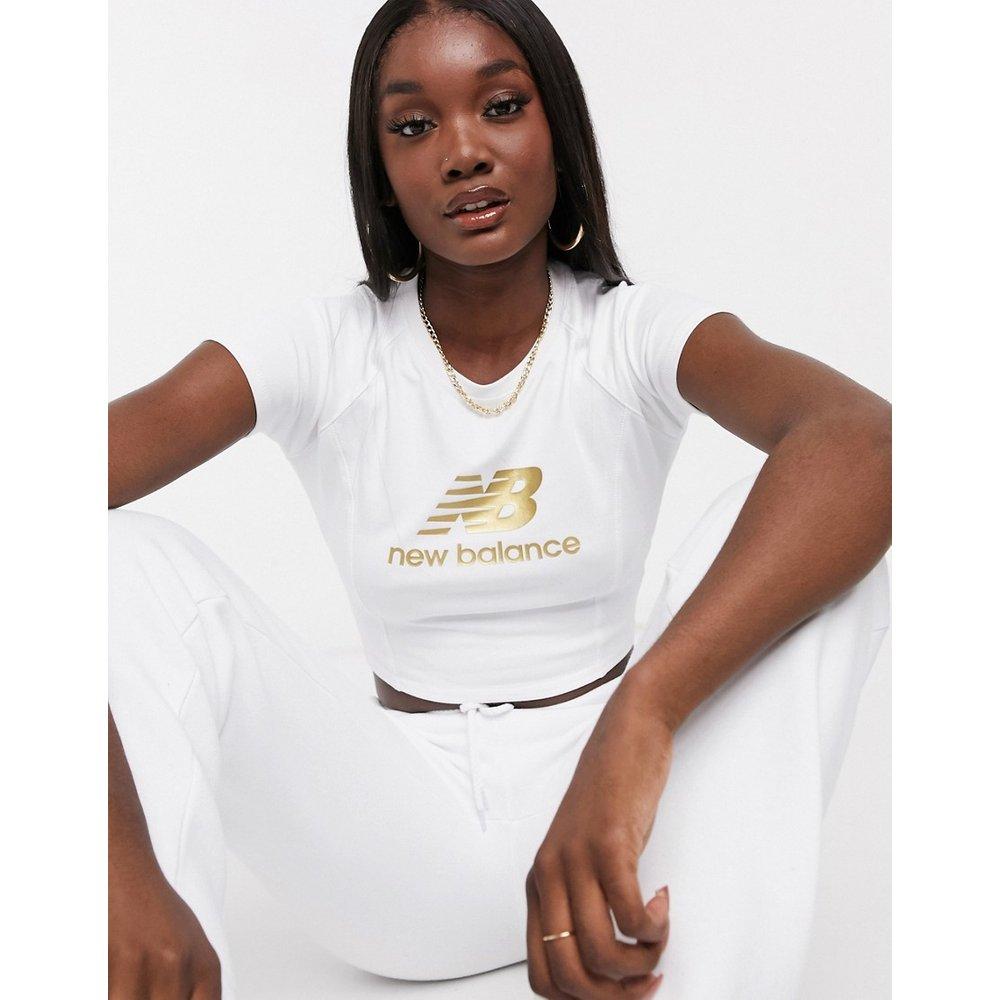 T-shirt court avec logo métallisé - New Balance - Modalova