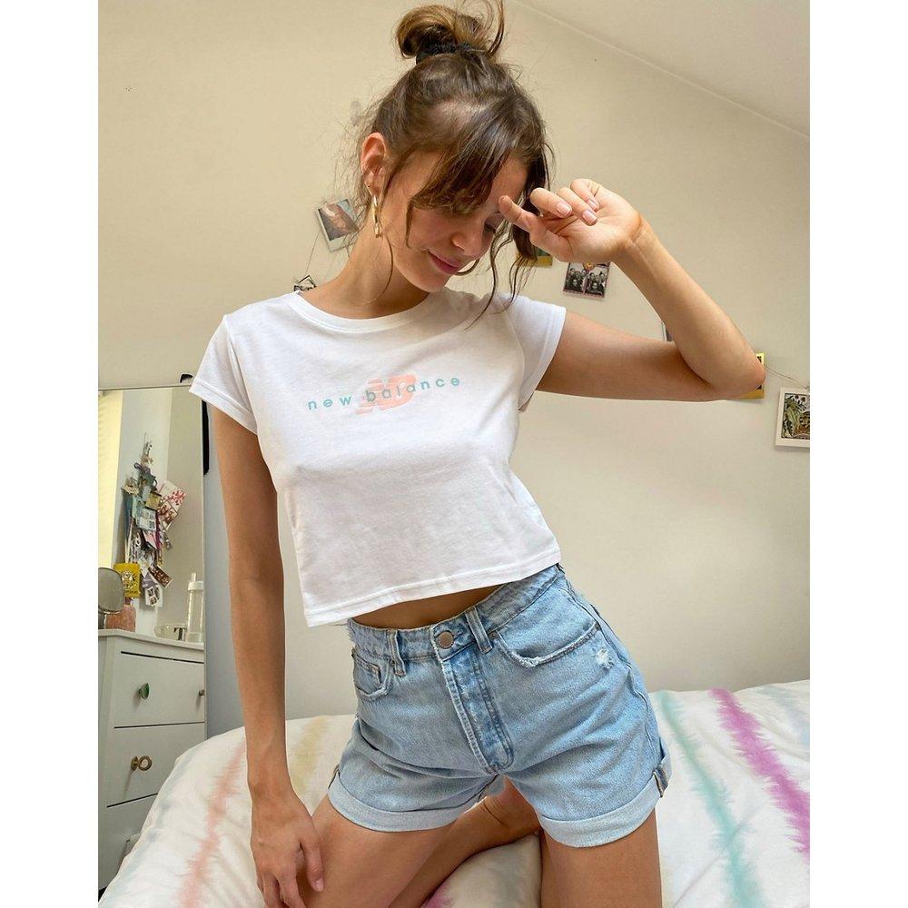 New Balance - T-shirt court - Blanc - New Balance - Modalova