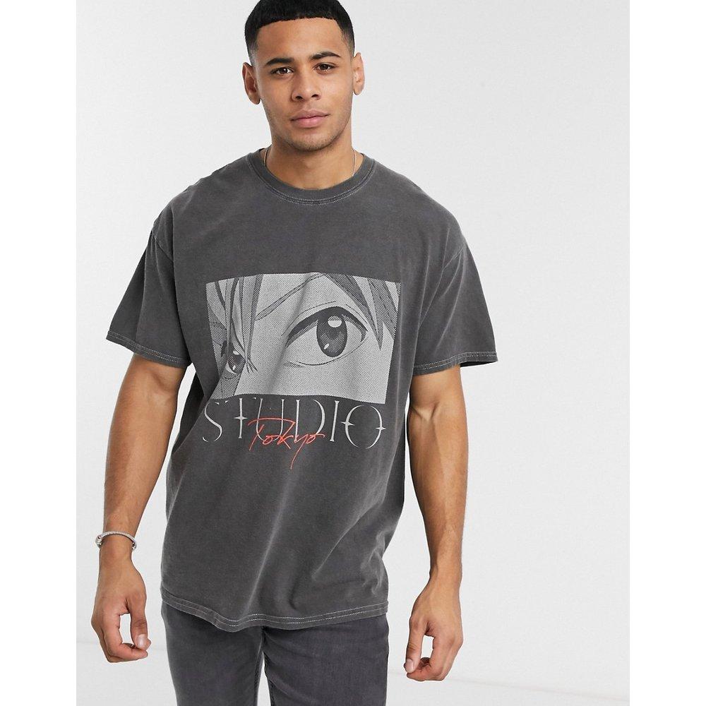 Anime - T-shirt oversize surteint - New Look - Modalova