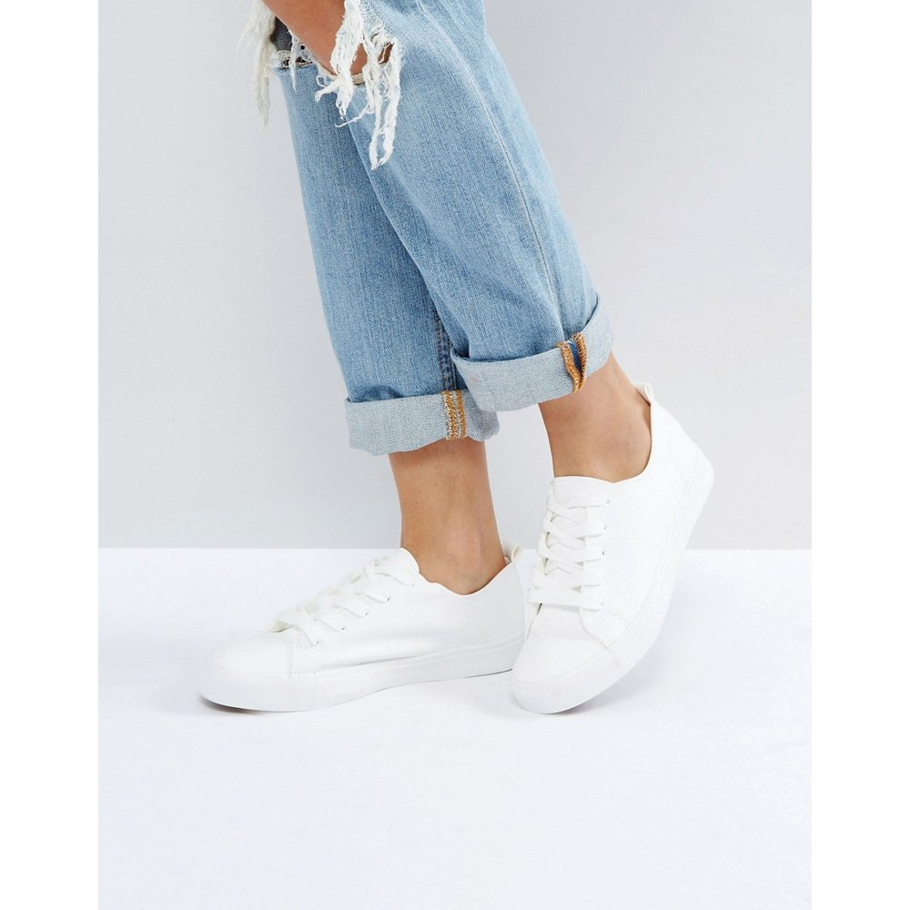 New Look - Baskets à lacets-Blanc - New Look - Modalova