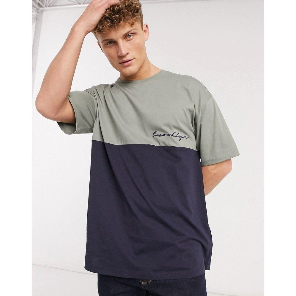 Brooklyn - T-shirt brodé - Bleu marine - New Look - Modalova