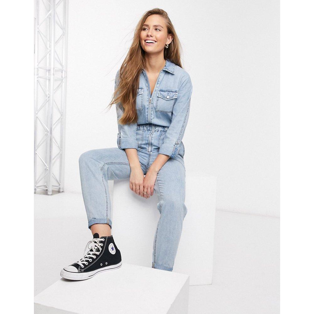 Combinaison en jean - moyen - New Look - Modalova