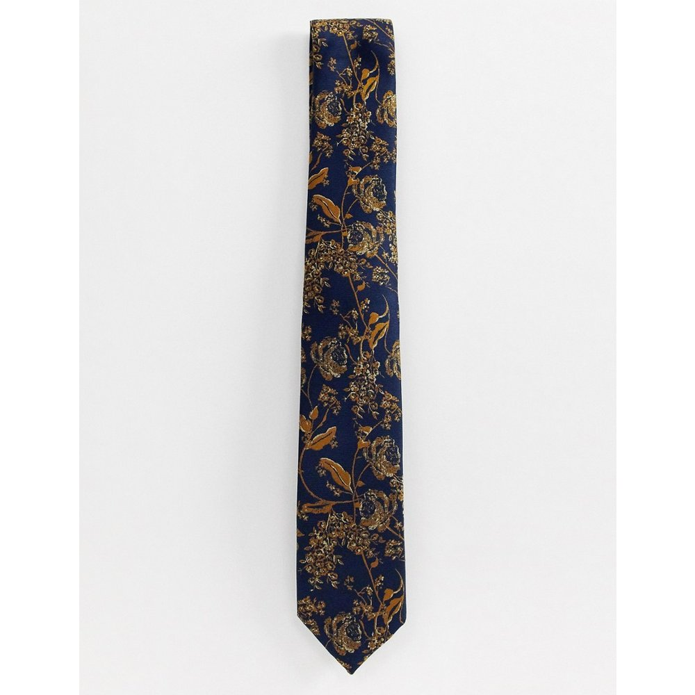 Cravate avec fleur - Doré - New Look - Modalova
