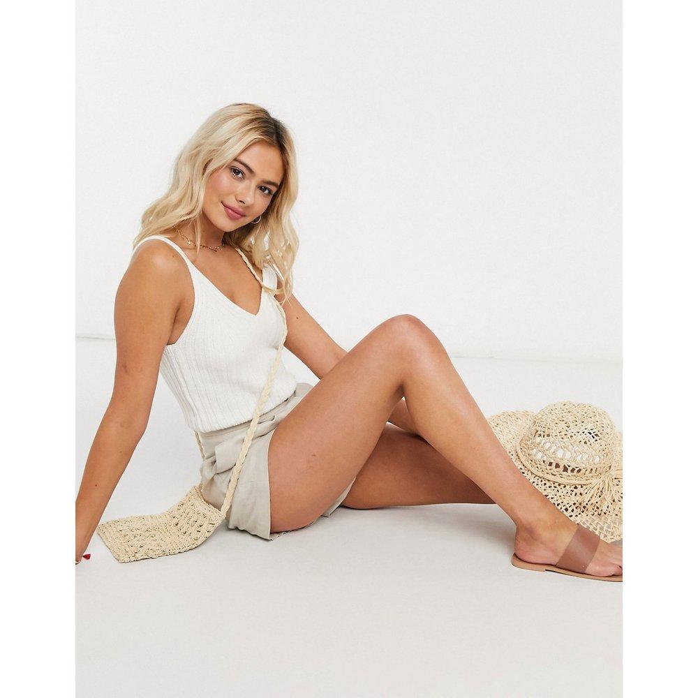 Crop top en maille - New Look - Modalova