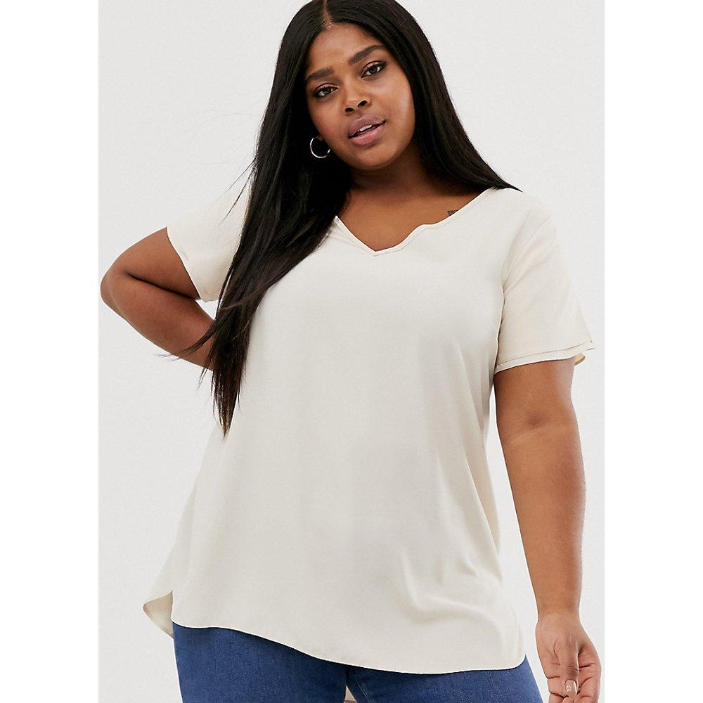 New Look Curve - T-shirt tunique - cassé - New Look Plus - Modalova
