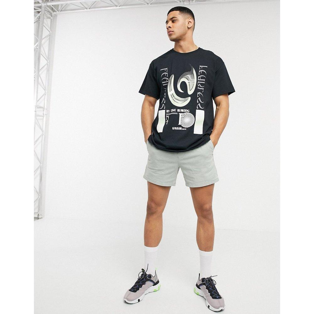Fearless - T-shirt imprimé - Noir - New Look - Modalova