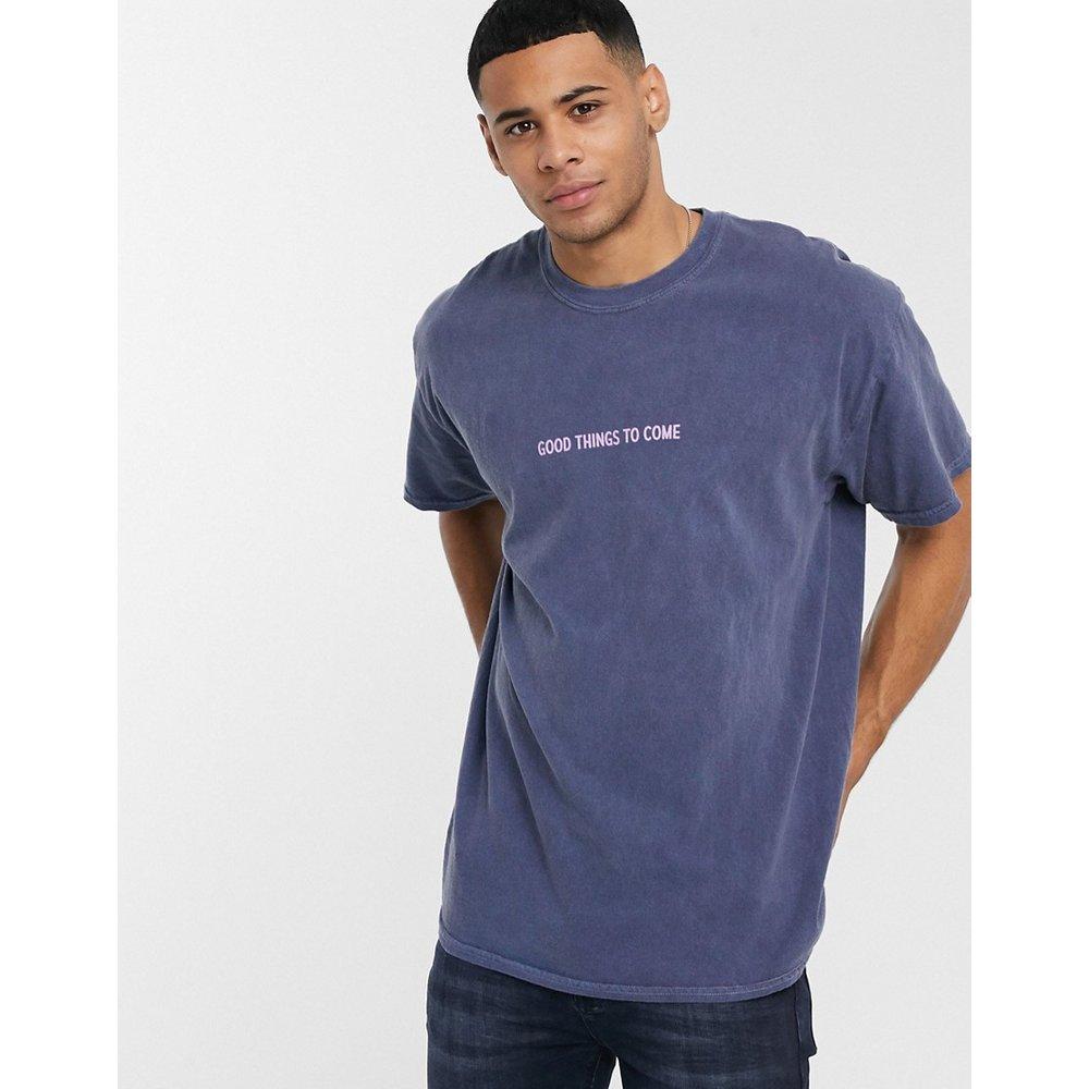 Good Things - T-shirt oversize à inscription - Bleu marine - New Look - Modalova