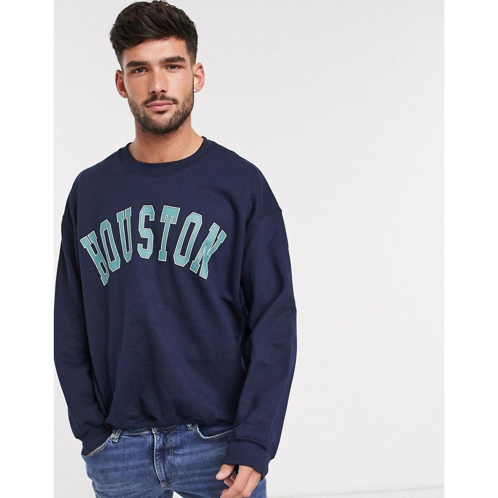 Houston - Sweat-shirt imprimé - Bleu marine - New Look - Modalova