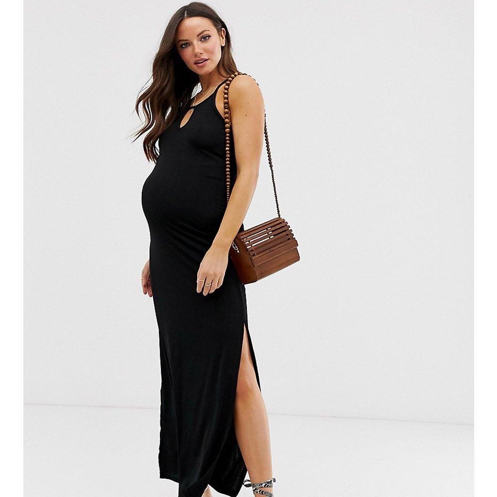 Robe longue plissée - New Look Maternity - Modalova