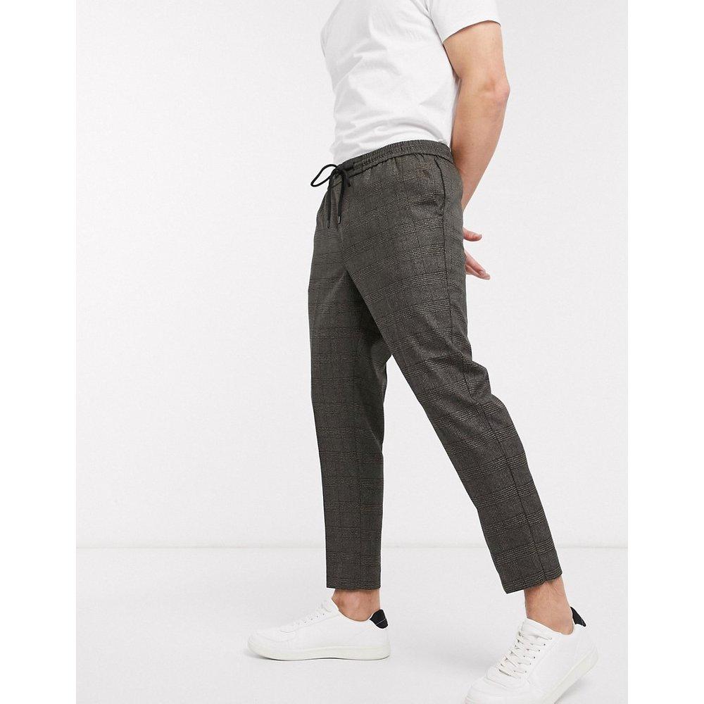 Pantalon à enfiler à carreaux ton sur ton - New Look - Modalova