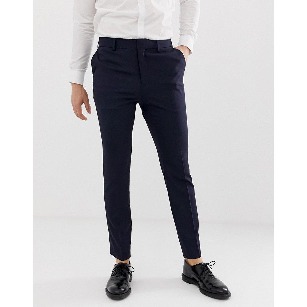 Pantalon ajusté habillé - Bleu marine - New Look - Modalova