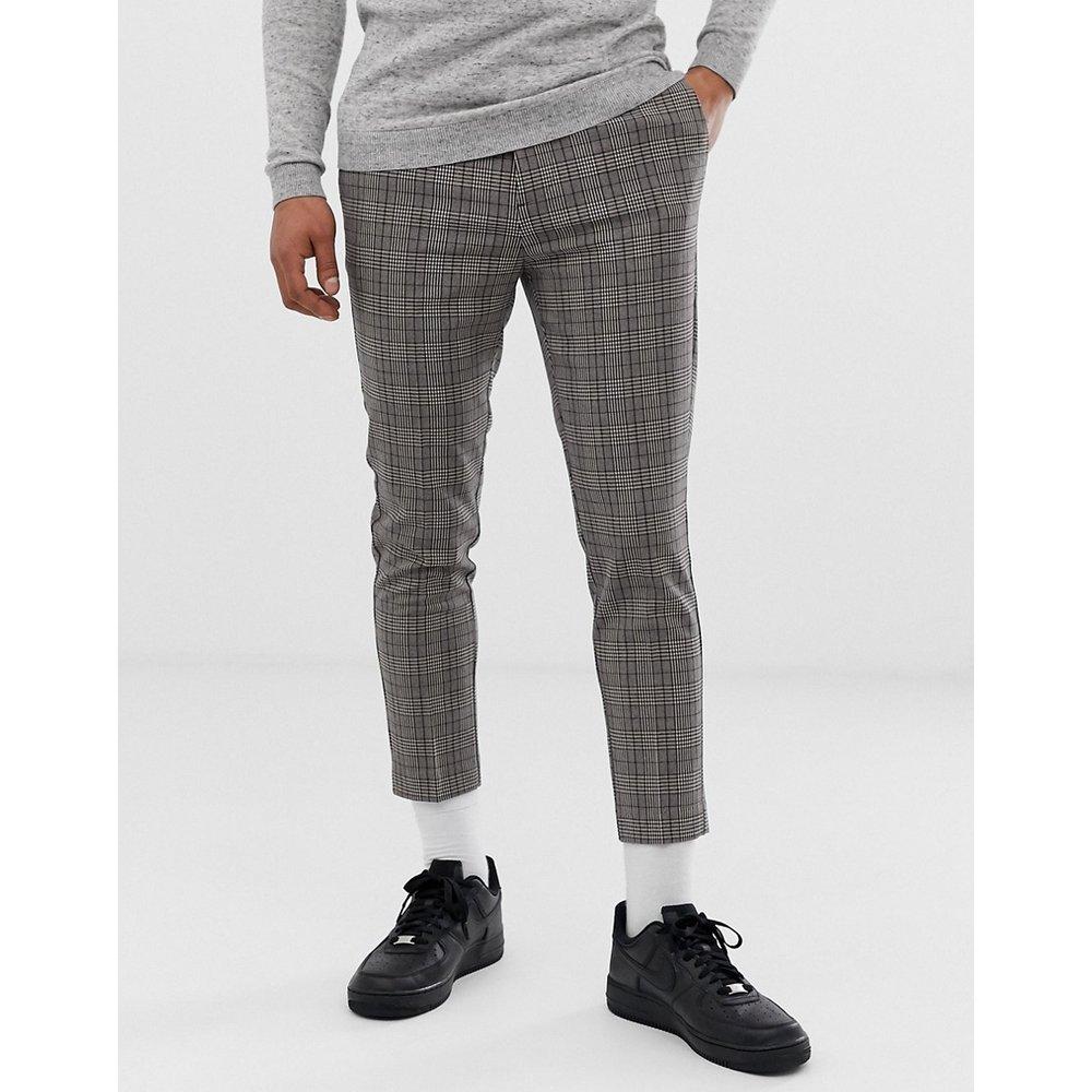 Pantalon court à carreaux - New Look - Modalova